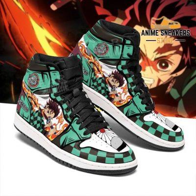 Tanjiro Shoes Boots Skill Sun Breathing Demon Slayer Anime Sneakers Fan Jd