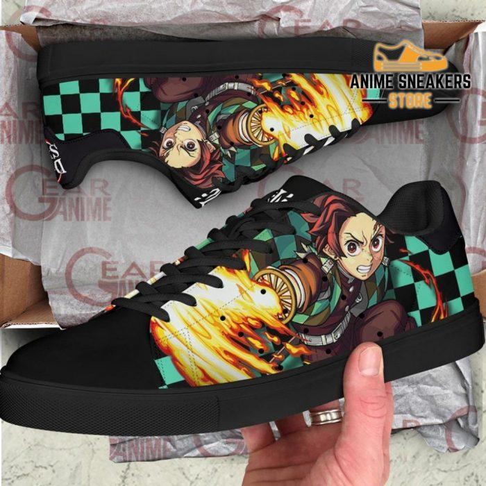 Tanjiro Sun Breathing Skate Shoes Demon Slayer Anime Custom Pn10