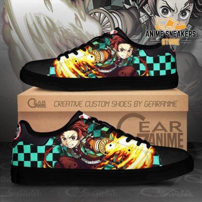 Tanjiro Sun Breathing Skate Shoes Demon Slayer Anime Custom Pn10 Men / Us6