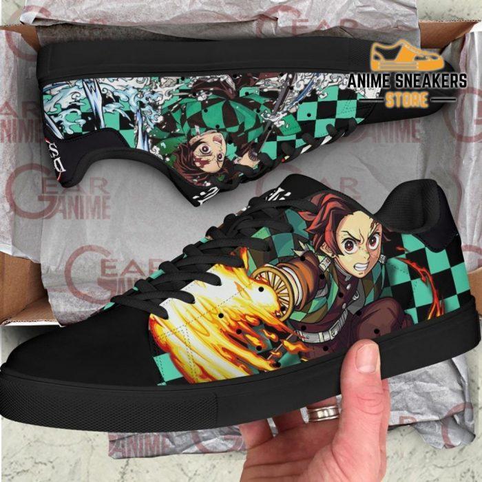 Tanjiro Sun & Water Breathing Skate Shoes Demon Slayer Anime Custom Pn10