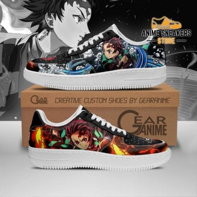 Tanjiro Water And Sun Shoes Demon Slayer Anime Sneakers Pt10 Men / Us6.5 Air Force