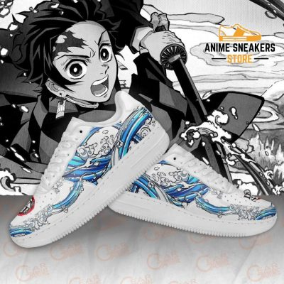 Tanjiro Water Breathing Shoes Demon Slayer Anime Sneakers Pt10 Air Force