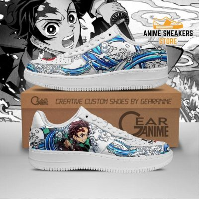 Tanjiro Water Breathing Shoes Demon Slayer Anime Sneakers Pt10 Men / Us6.5 Air Force
