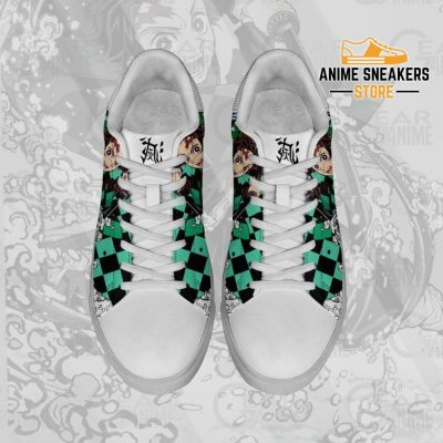 Tanjiro Water Breathing Skate Shoes Demon Slayer Anime Custom Pn10