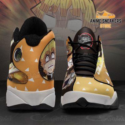 Zenitsu Agatsuma Sneakers Funny Face Demon Slayer Shoes Mn10 Jd13