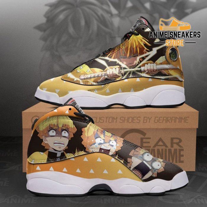 Zenitsu Agatsuma Sneakers Funny Face Demon Slayer Shoes Mn10 Men / Us6 Jd13
