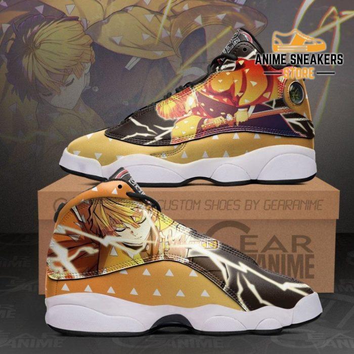 Zenitsu Agatsuma Sneakers Demon Slayer Anime Shoes Mn10 Men / Us6 Jd13