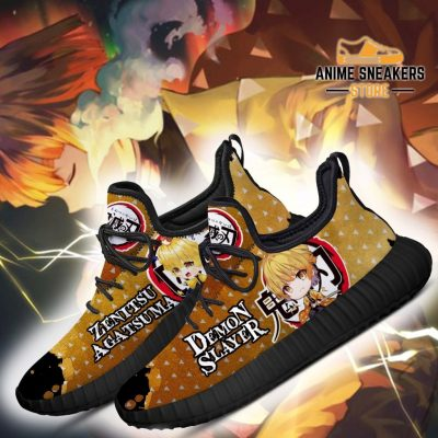 Zenitsu Reze Shoes Demon Slayer Anime Sneakers Fan Gift Idea