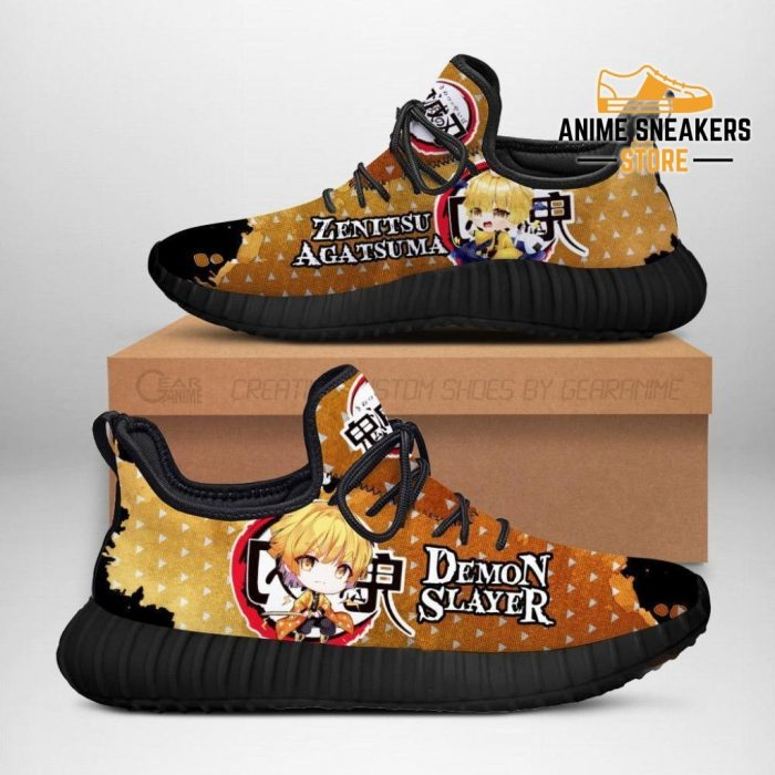 Zenitsu Reze Shoes Demon Slayer Anime Sneakers Fan Gift Idea Men / Us6