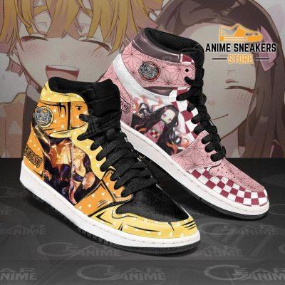 Zenitsu & Nezuko Sneakers Demon Slayer Anime Shoes Jd