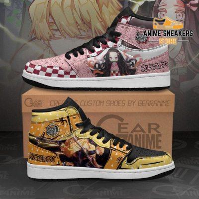Zenitsu & Nezuko Sneakers Demon Slayer Anime Shoes Men / Us6.5 Jd
