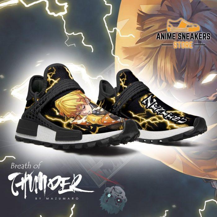 Demon Slayer Shoes Zenitsu Thunder Breathing Anime Sneakers Nmd