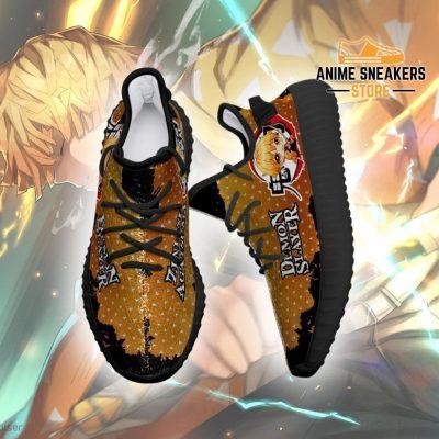 Zenitsu Yeezy Shoes Demon Slayer Anime Sneakers Fan Gift Tt04