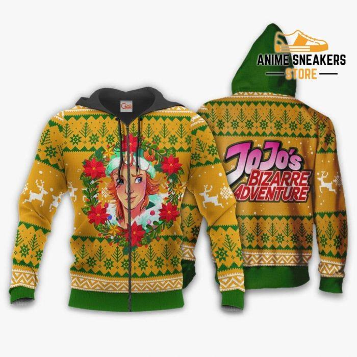 Dio Brando Ugly Christmas Sweater Jojos Bizarre Adventure Anime Va11 Zip Hoodie / S All Over Printed