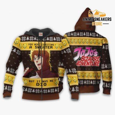 Dio Brando Ugly Christmas Sweater Jojos Bizarre Adventure Xmas Va11 Zip Hoodie / S All Over Printed