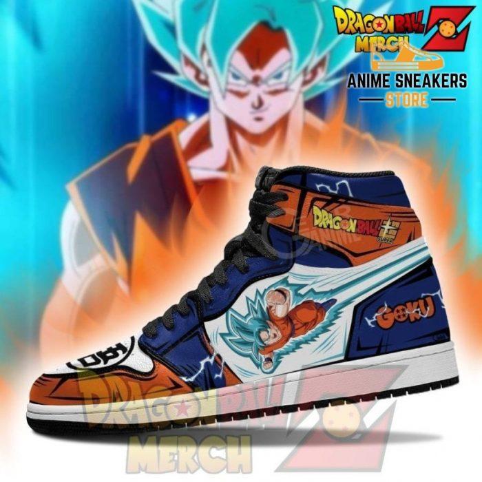 Goku Saiyan Blue Jordan Sneakers Leather No.2 Jd
