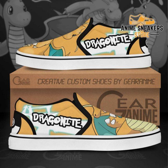 Dragonite Slip On Shoes Pokemon Custom Anime Slip-On