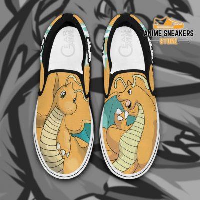 Dragonite Slip On Shoes Pokemon Custom Anime Men / Us6 Slip-On