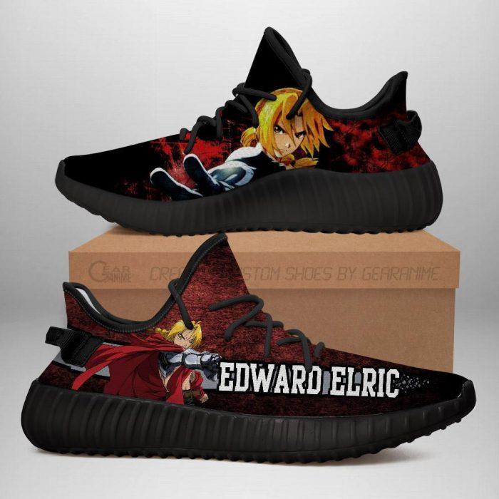 Edward Elric Yeezy Shoes Fullmetal Alchemist Anime Sneakers Fan Gift Idea TT05 Men / US6 Official Fullmetal Alchemist  Merch