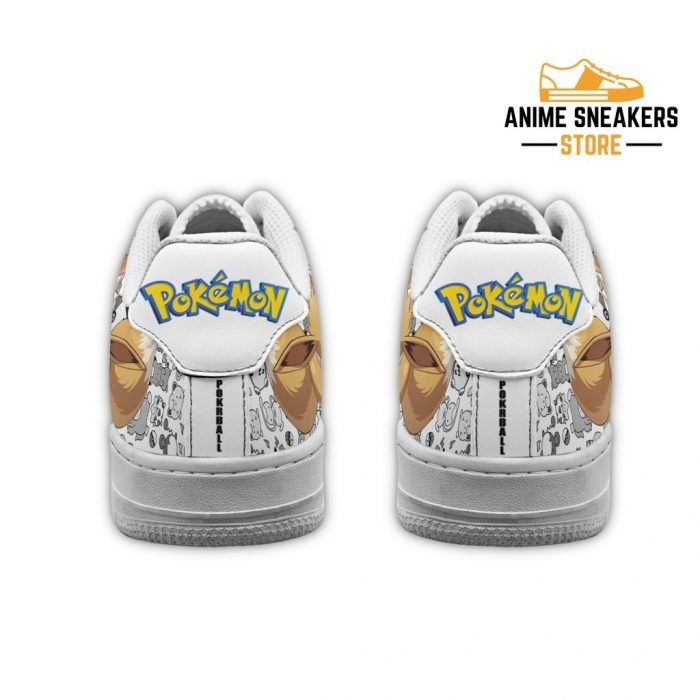 Eevee Sneakers Pokemon Shoes Fan Gift Idea Pt04 Air Force