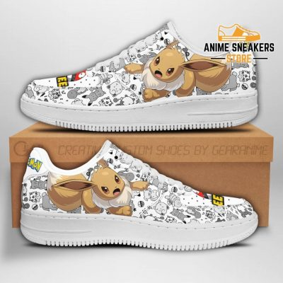 Eevee Sneakers Pokemon Shoes Fan Gift Idea Pt04 Men / Us6.5 Air Force