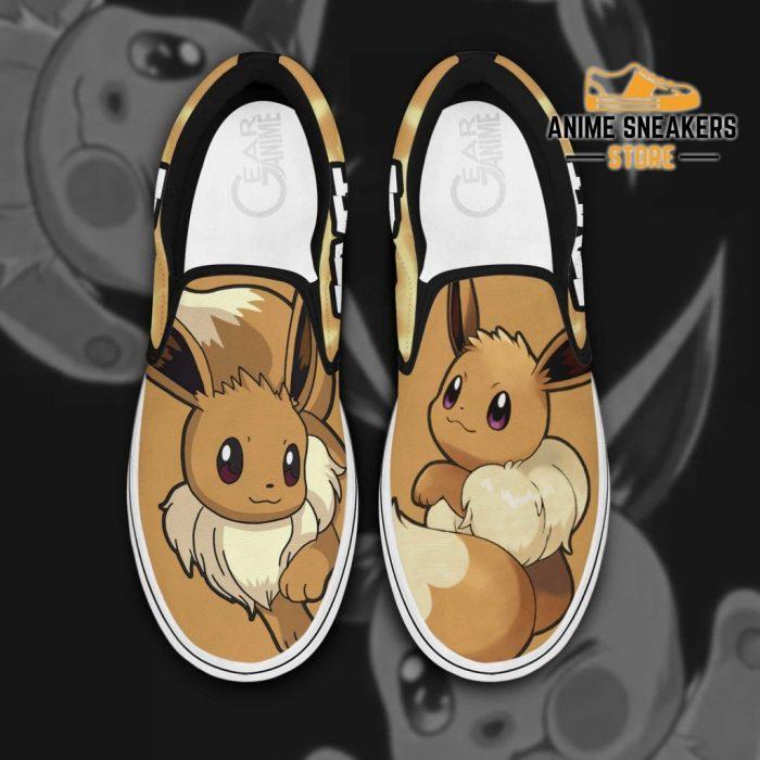 Eevee Slip On Shoes Pokemon Custom Anime Men / Us6 Slip-On