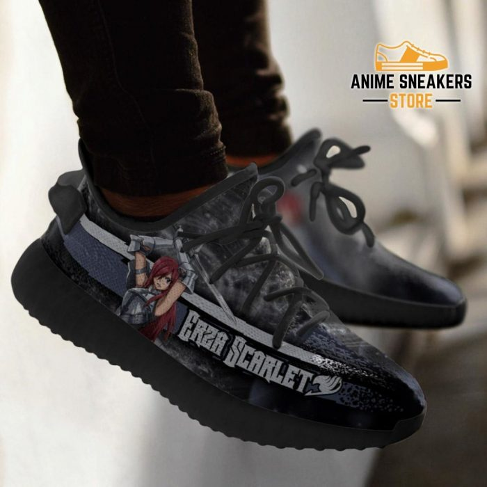 Erza Yeezy Shoes Custom Fairy Tail Anime Sneakers Fan Gift Idea Tt05