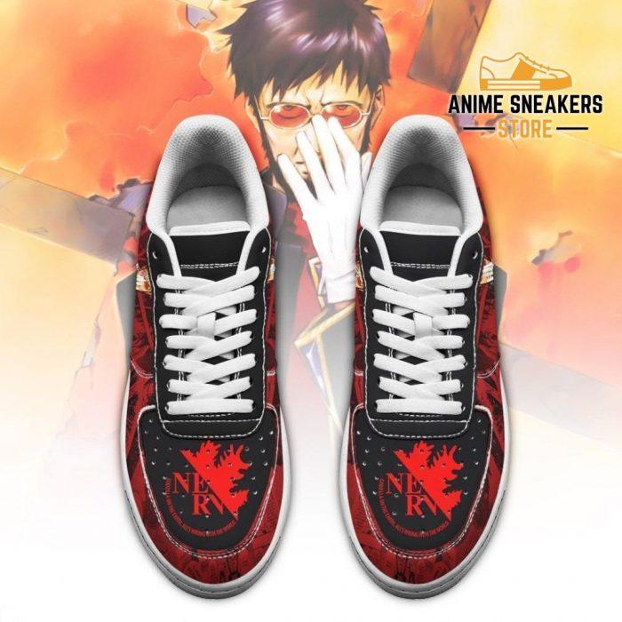 Evangelion Gendo Ikari Sneakers Neon Genesis Shoes Air Force