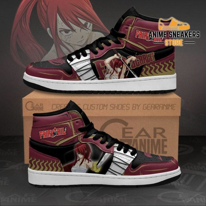 Erza Scarlet Sneakers Fairy Tail Anime Shoes Mn11 Men / Us6.5 Jd