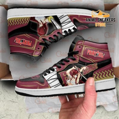 Erza Scarlet Sneakers Fairy Tail Anime Shoes Mn11 Jd