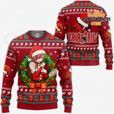 Fairy Tail Erza Scarlet Ugly Christmas Sweater Anime Xmas Va11 / S All Over Printed Shirts