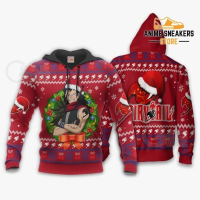 Fairy Tail Gajeel Ugly Christmas Sweater Anime Xmas Va11 Hoodie / S All Over Printed Shirts
