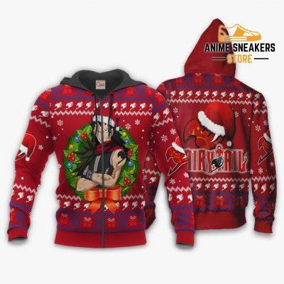 Fairy Tail Gajeel Ugly Christmas Sweater Anime Xmas Va11 Zip Hoodie / S All Over Printed Shirts