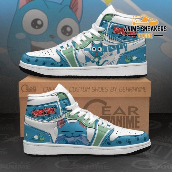 Fairy Tail Happy Sneakers Custom Anime Shoes Mn11 Men / Us6.5 Jd