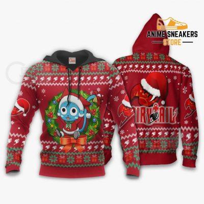 Fairy Tail Happy Ugly Christmas Sweater Anime Custom Xmas Va11 Hoodie / S All Over Printed Shirts
