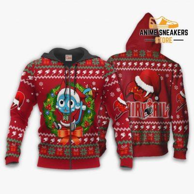 Fairy Tail Happy Ugly Christmas Sweater Anime Custom Xmas Va11 Zip Hoodie / S All Over Printed