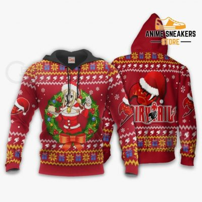 Fairy Tail Lucy Heartfilia Ugly Christmas Sweater Anime Xmas Va11 Hoodie / S All Over Printed Shirts