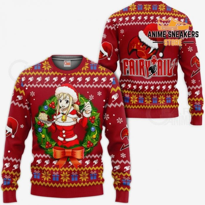 Fairy Tail Lucy Heartfilia Ugly Christmas Sweater Anime Xmas Va11 / S All Over Printed Shirts