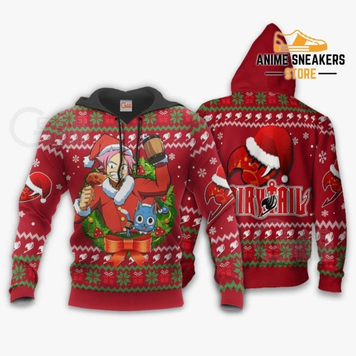 Fairy Tail Natsu Dragneel Ugly Christmas Sweater Anime Xmas Va11 Hoodie / S All Over Printed Shirts