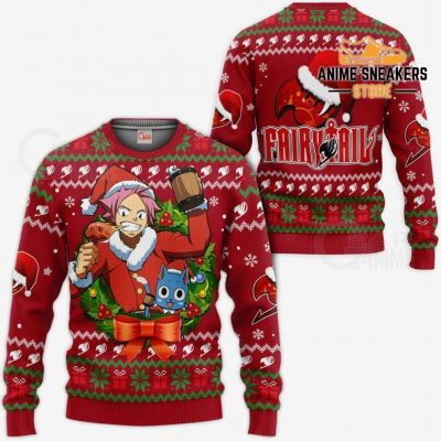 Fairy Tail Natsu Dragneel Ugly Christmas Sweater Anime Xmas Va11 / S All Over Printed Shirts