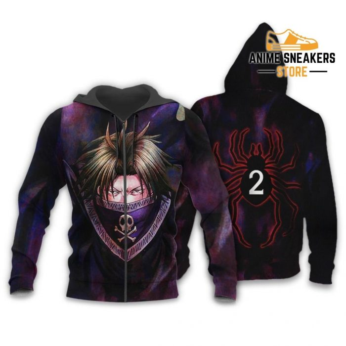 Feitan Hunter X Shirt Sweater Hxh Anime Hoodie Jacket Zip / S All Over Printed Shirts