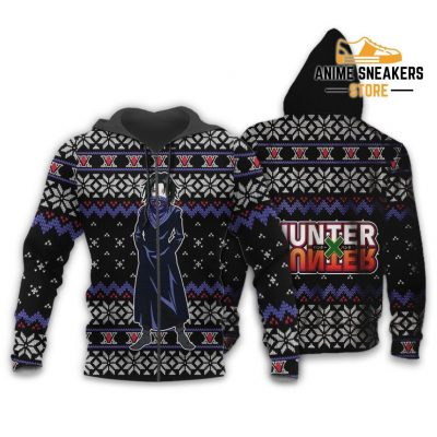 Feitan Ugly Christmas Sweater Hunter X Anime Xmas Gift Clothes Zip Hoodie / S All Over Printed