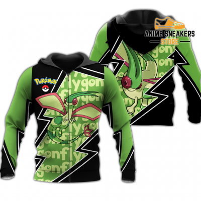 Flygon Zip Hoodie Costume Pokemon Shirt Fan Gift Idea Va06 Adult / S All Over Printed Shirts
