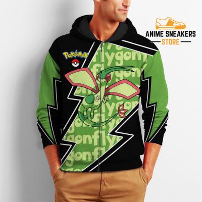Flygon Zip Hoodie Costume Pokemon Shirt Fan Gift Idea Va06 All Over Printed Shirts