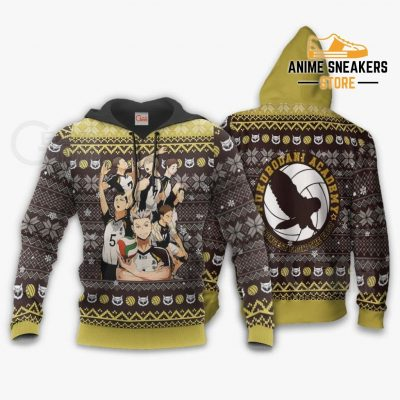Fukurodani Academy Ugly Christmas Sweater Haikyuu Anime Xmas Va10 Hoodie / S All Over Printed Shirts