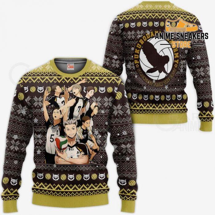 Fukurodani Academy Ugly Christmas Sweater Haikyuu Anime Xmas Va10 / S All Over Printed Shirts