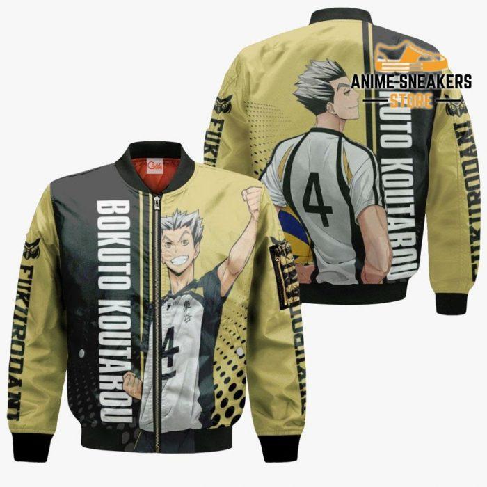 Fukurodani Bokuto Koutarou Hoodie Haikyuu Custom Anime Shirt Bomber Jacket / S All Over Printed