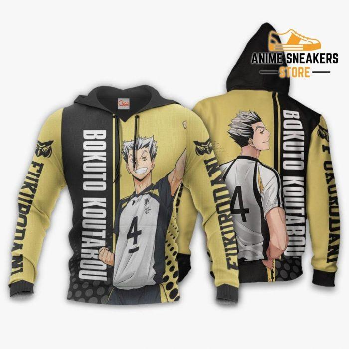 Fukurodani Bokuto Koutarou Hoodie Haikyuu Custom Anime Shirt / S All Over Printed Shirts