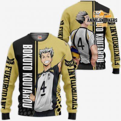 Fukurodani Bokuto Koutarou Hoodie Haikyuu Custom Anime Shirt Sweater / S All Over Printed Shirts