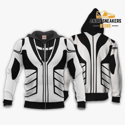Fullbring Ichigo Shirt Costume Uniform Bleach Anime Hoodie Sweater Zip / S All Over Printed Shirts